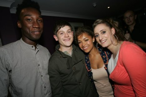 Four fifths of the cast of Misfits, E4's new drama comedy sci-fi thing
